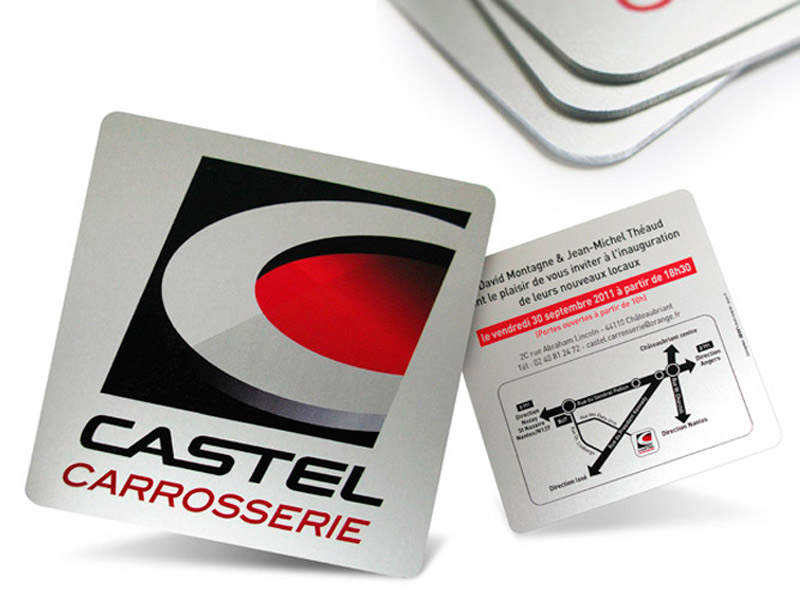 Castel carrosserie invitation