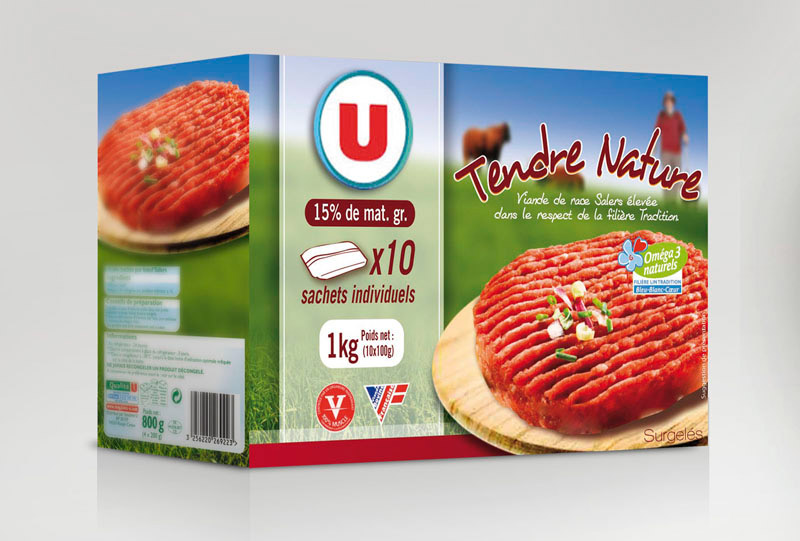 Steack haché packaging Super U