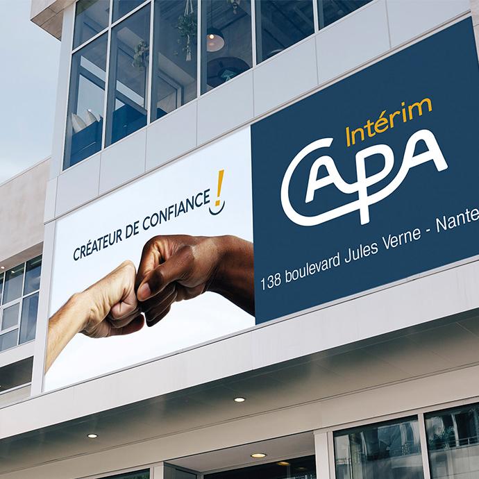 Signalétique - Affichage CAPA Intérim