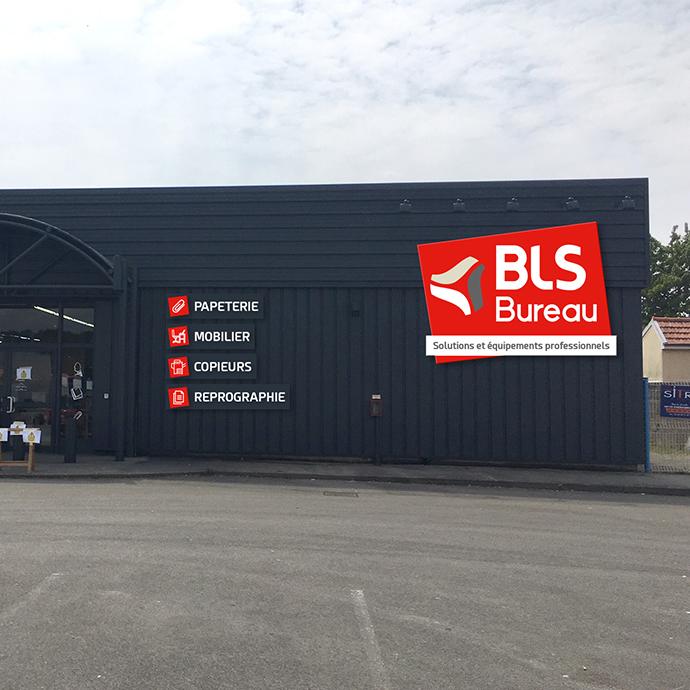 Signalétique - Façade BLS Bureau