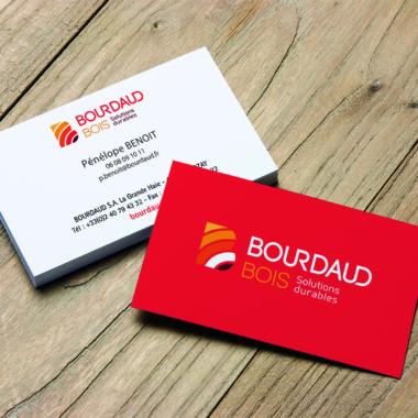 Cartes de visite Bourdaud Bois
