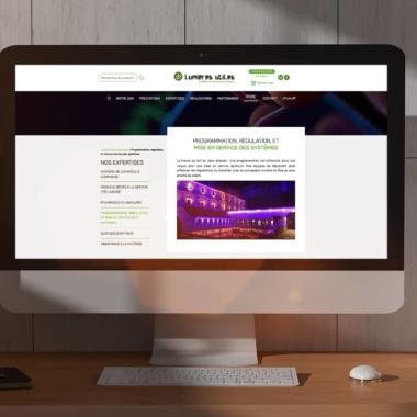 Web Design du site Lumières Utiles